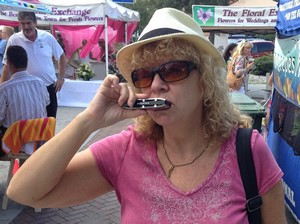 Mary Lou Keller playing the Pulmonica Harmonica